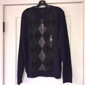 Apt. 9 V Neck Men's Sweater Medium